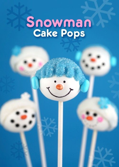 """Snowman cake pops from Bakerella - Eat Your Books is an indexing website that helps you find & organize your recipes. Click the """"View Complete Recipe"""" link for the original recipe."""