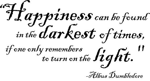 Wall Decal: Harry Potter quote by Albus Dumbledore: Happiness can be found