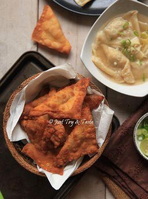 Just Try & Taste: Resep Homemade Pangsit Goreng Garing