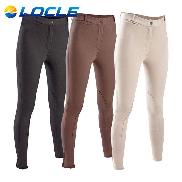 LOCLE Mujeres Profesionales Pantalones de Equitación Ecuestre Caps o Pantalones Para Mujer pantalones De Montar a Caballo