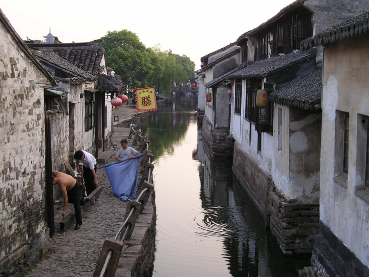End of the day, Zhouzhuang - the Oriental Venice, China, July 2004