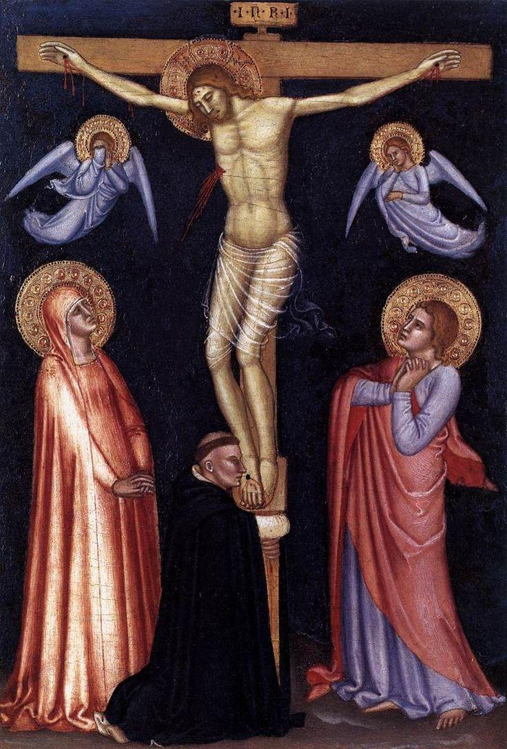 Andrea di Bonaiuto. Crucifixion. 1370-77 Pinacoteca Vaticana - Андреа Бонайути — Википедия. Распятие. 1370-1377. Ватикан, Пинакотека.