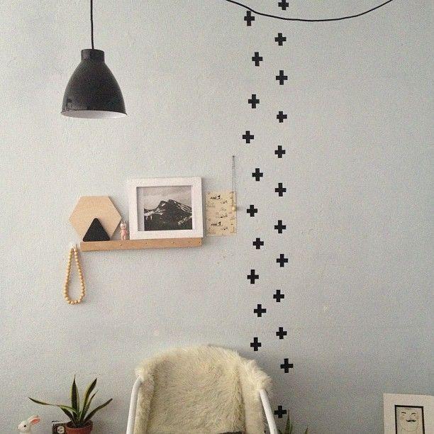 DIY BLACK WASHI TAPE WALL DESIGN