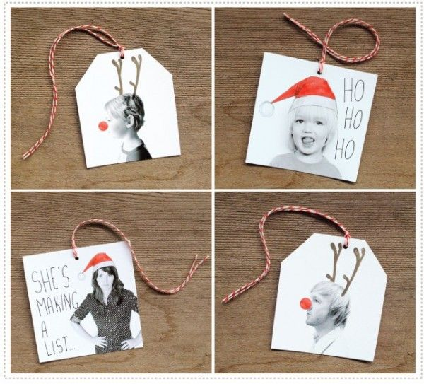 Fun idea for making your own photo gift tags