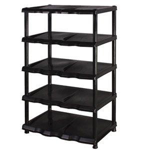 5 Tier Black Plastic Shoe Rack Shelf Home Range http://www.amazon.co.uk/dp/B009UV1QI0/ref=cm_sw_r_pi_dp_S7iyub1J226E3