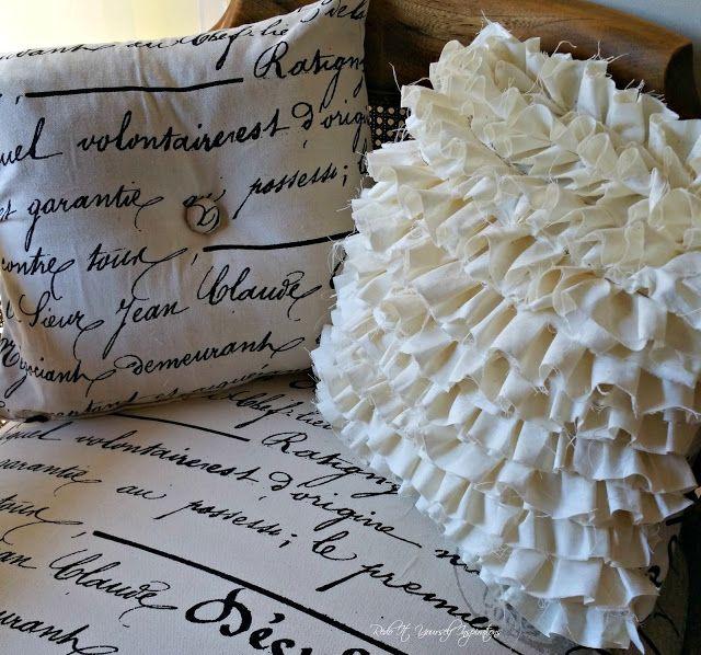 Making a Rag Ruffle Pillow Cover