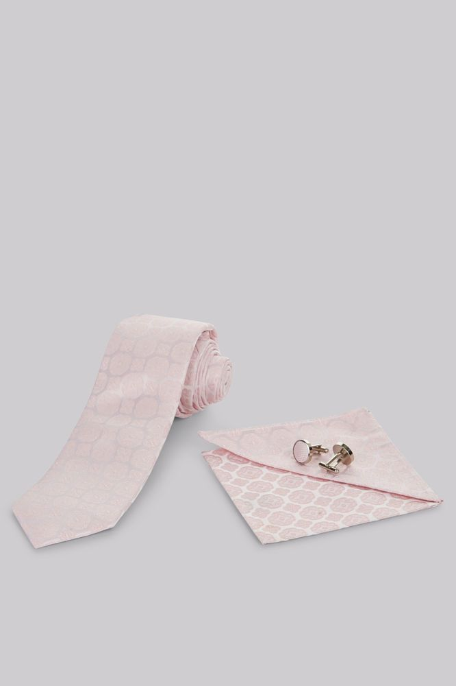 Moss 1851 Mens Tie Pocket Square Silk Pink Medallion & Cufflinks Formal Gift Set in Clothes, Shoes & Accessories, Men's Accessories, Ties, Bow Ties & Cravats   eBay!