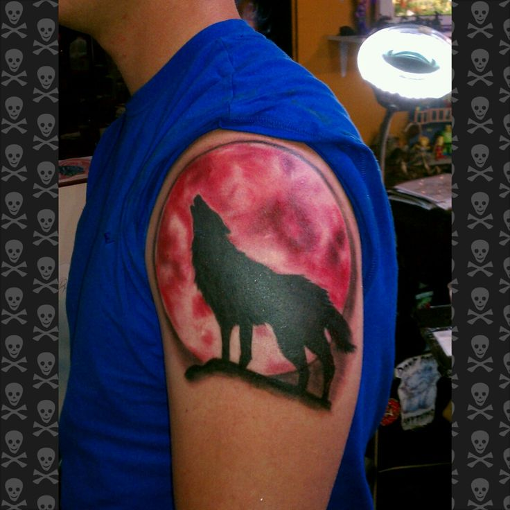 red moon tattoo - photo #30