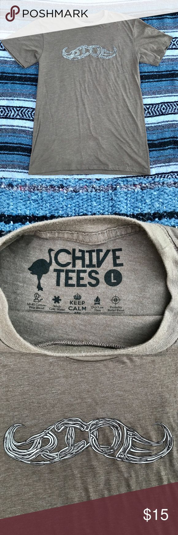 Chive Mustache Ride T Shirt Size L Chive Mustache Ride T Shirt Size L, like new Chive Shirts Tees - Short Sleeve