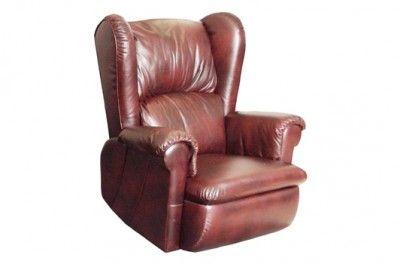 Ritz recliner oxe leather brown footrest swedish design møbelform www.helsetmobler.no