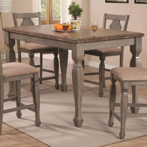 Coaster Riverbend Two-Tone Counter Height Table in Antique Gray Finish - Coaster Fine Furniture