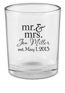 96 Personalized Wedding Favors Custom Candle Votive Holders NEW Romantic Wedding