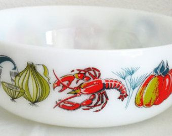 Vintage Seafood Casserole (JaJ Pyrex, made in England)