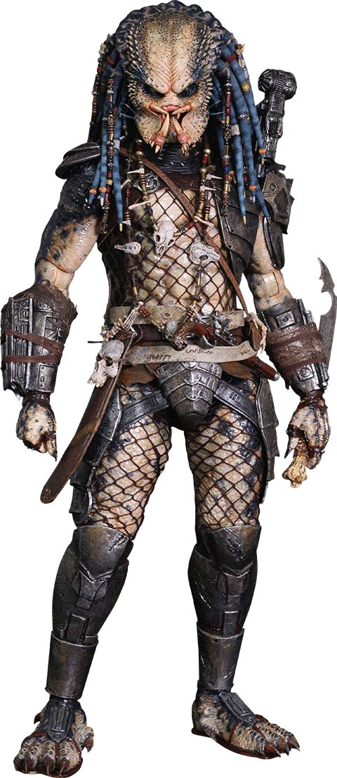 Why hadn't I ever noticed that Predator wears fishnets? Somehow, it seems substantially less terrifying in fishnets.