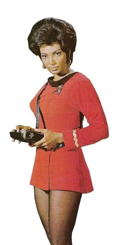 Lt. Uhura, Star Trek....easily my favorite. Although Sulu and Bones are close seconds.