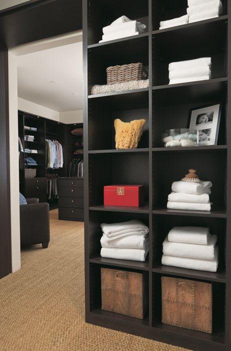 Custom Closet In Venetian Wenge Finish By California Closets