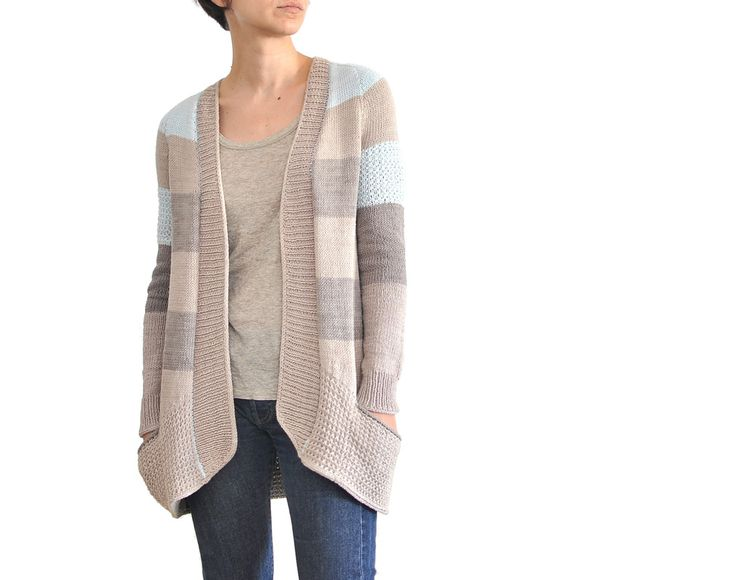 knitting pattern: BlueSand Cardigan by La Maison Rililie Designs