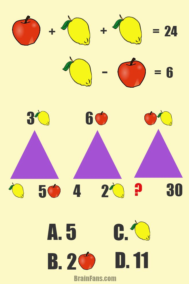 Brain teaser - Number And Math Puzzle - math - Find the answer (red question mark) for this two in one math puzzle.