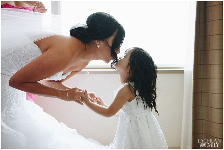 Adorable Kiss between the Flower girl & Bride