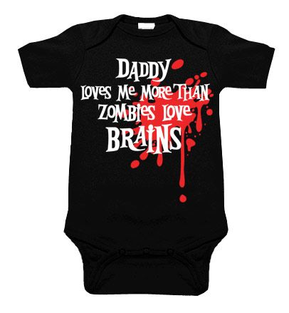 Daddy Loves Me Zombie Blood Splat One Piece by My Baby Rocks. Father's Day gift ideas for a new dad!
