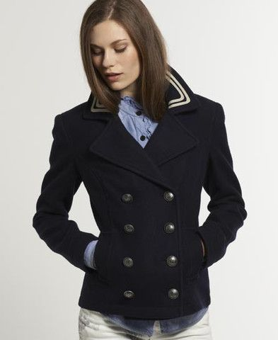 Superdry Womens Avengers Peacoat - Navy – Last One Size L now £94.99 Free UK P&P