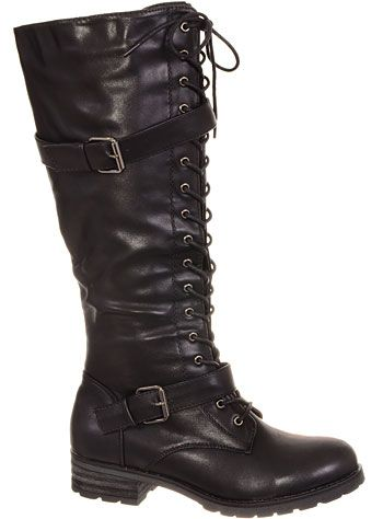 Steampunk buckle boots