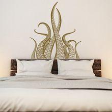 Los Tentáculos del pulpo Kraken Tatuajes de Pared de Vinilo Arte Decal Náutica Pulpo Océano Decoración Dormitorio Etiqueta de la Pared, cuarto de baño Decoración Del Hogar(China (Mainland))