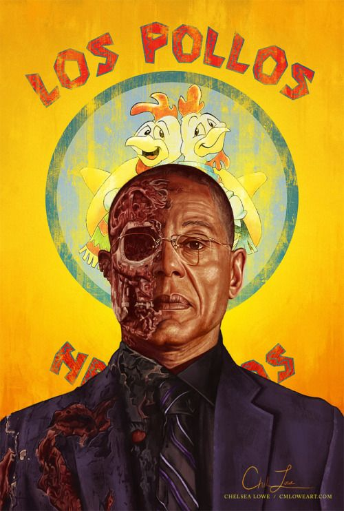 "cmloweart: "" "" ""Is everything to your satisfaction?"" Digital painting "" Here he is. My tribute to one of the greatest villains ever, Gus Fring. It's been so exciting seeing him again on Better Call Saul! Follow me on: Facebook 