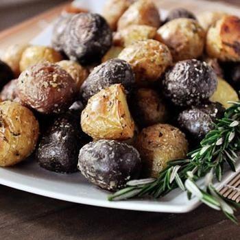 Salt Crusted Potatoes with Fresh Rosemary Recipe