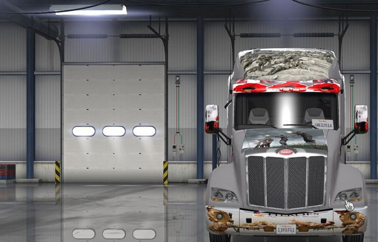 Peterbilt Truck War Skin - American Truck Simulator mod | ATS mod