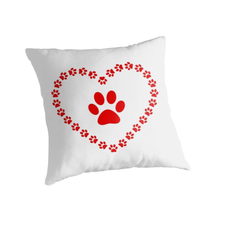 """Paws - heart"" Throw Pillows by Stock Image Folio 