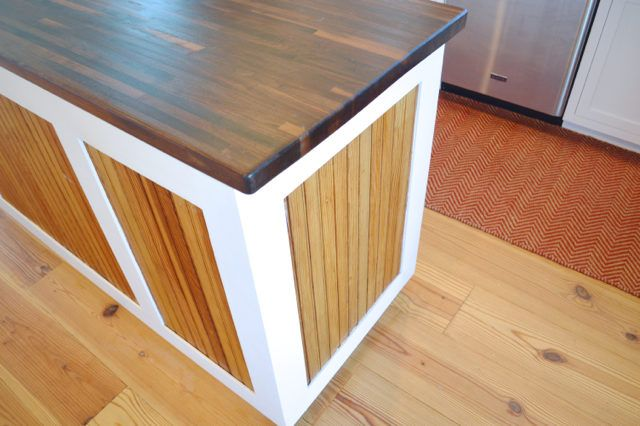 It's easy to finish a butcher block island with pure tung oil - a food safe wood sealer