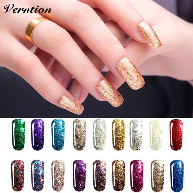 Nice ml D Diamond Glitter Nail Gel Polish Art soak off professional cheap lucky Color Need UV