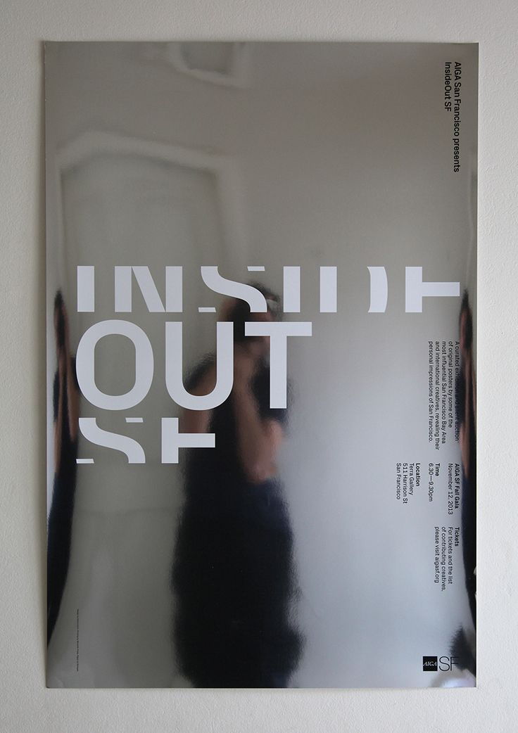 AIGA InsideOut SF exhibition poster _ Jeremy Matthews, Brett Wickens (Ammunition)