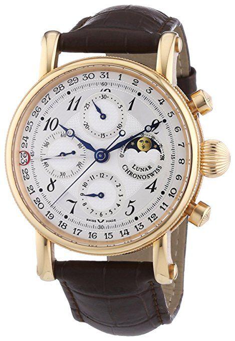 Chronoswiss  7541RL Brown - Reloj de mecánico para hombre, con correa de otros materiales, color marrón-PREFERIDO-1