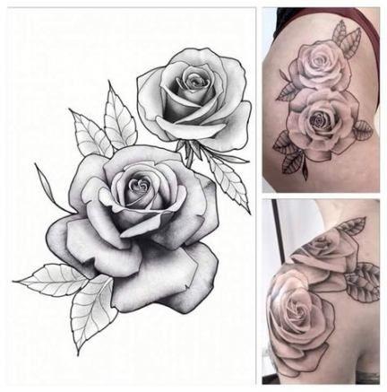 Idées de tatouage de fleurs meilleur dessin rose   – Tattoo Blumen Flower
