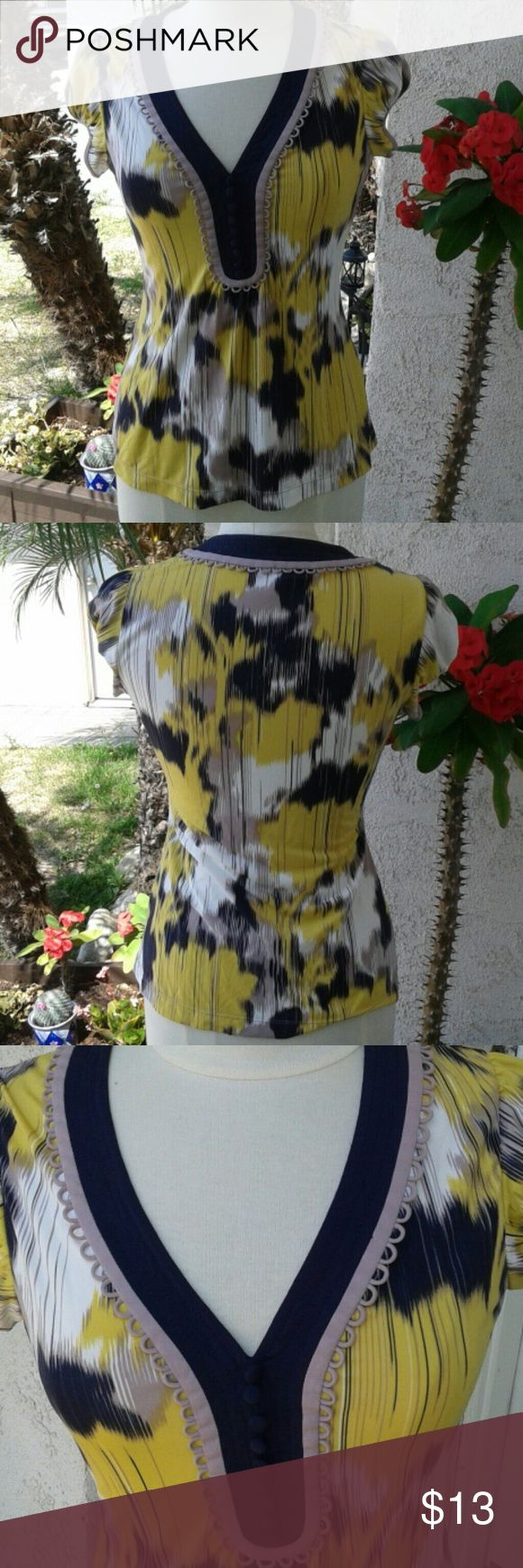 Very cute Small BCBGMaxazria top. Very cute summer top. It has  9 decorative buttons on the front. Worn once. BCBGMaxAzria Tops Blouses