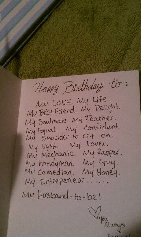 Das Innere seiner 26. Geburtstagskarte #boyfriendbirthdaygifts #boyfriendbirthda