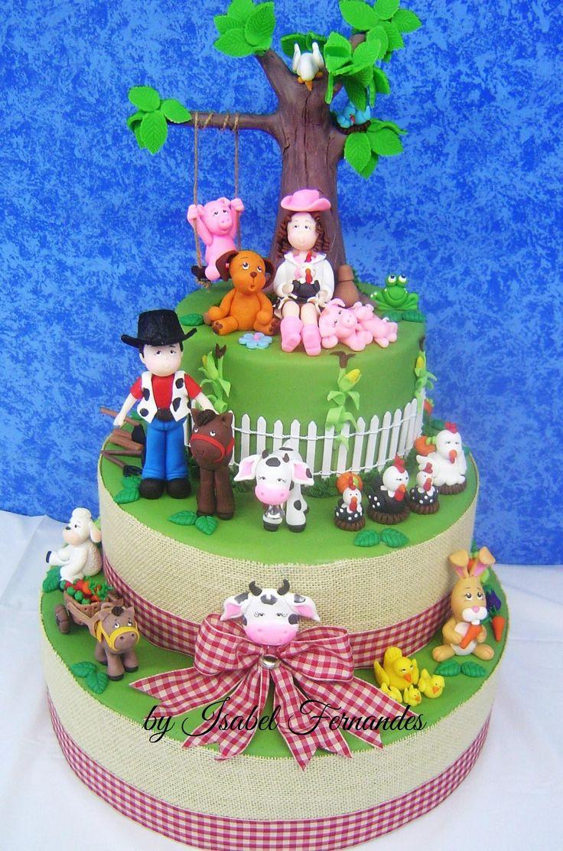 Farm Fake Cake