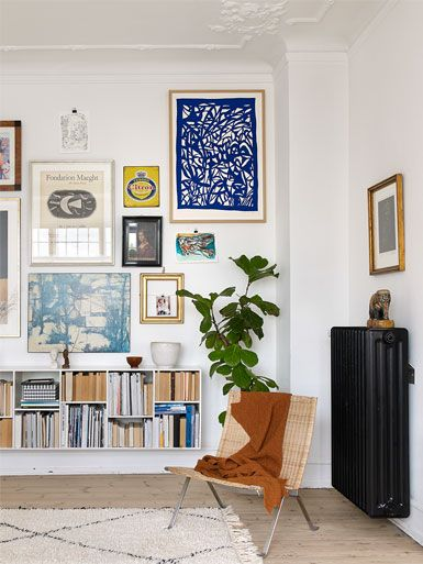 Reading nook with colorful gallery wall. Are you looking for one of a kind art photos or big size poster prints to create your own art wall? Visit bx3foto.etsy.com