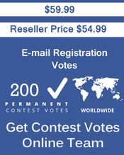Buy 200 Email Registration  Votes at $44.49 Votes from different USA IP Address Votes from Real Look Name and different mail domain like gmail/yahoo/hotmail etc. www.getcontestvotesonline.com #buyonlinevotes #buycontestvotes #buyfacebookvotes #getonlinevotes #getcontestvotes #buyvotesforonlinecontest #buyipvotes #getbulkvotes