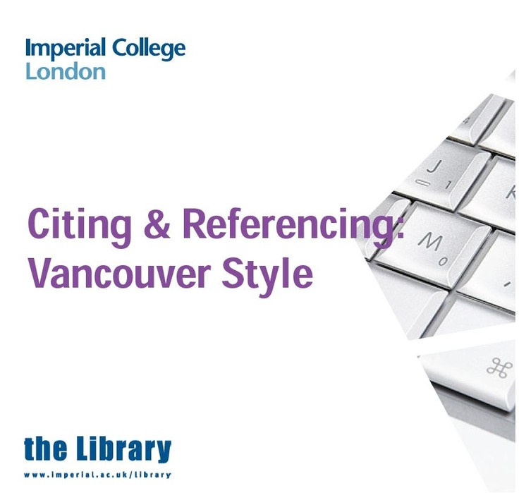 citing thesis vancouver style Dissertation - a document submitted to earn an advanced degree, such as a doctorate, at a university citing a thesis or dissertation from a database structure: last, fm (date published)first name last name, title master's thesis or phd [.