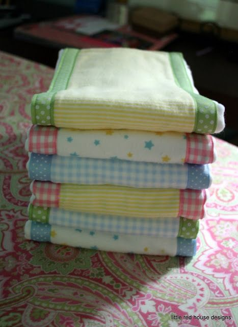 Burp cloth for new moms.  Little Red House Designs: Baby Shower (gift #1)