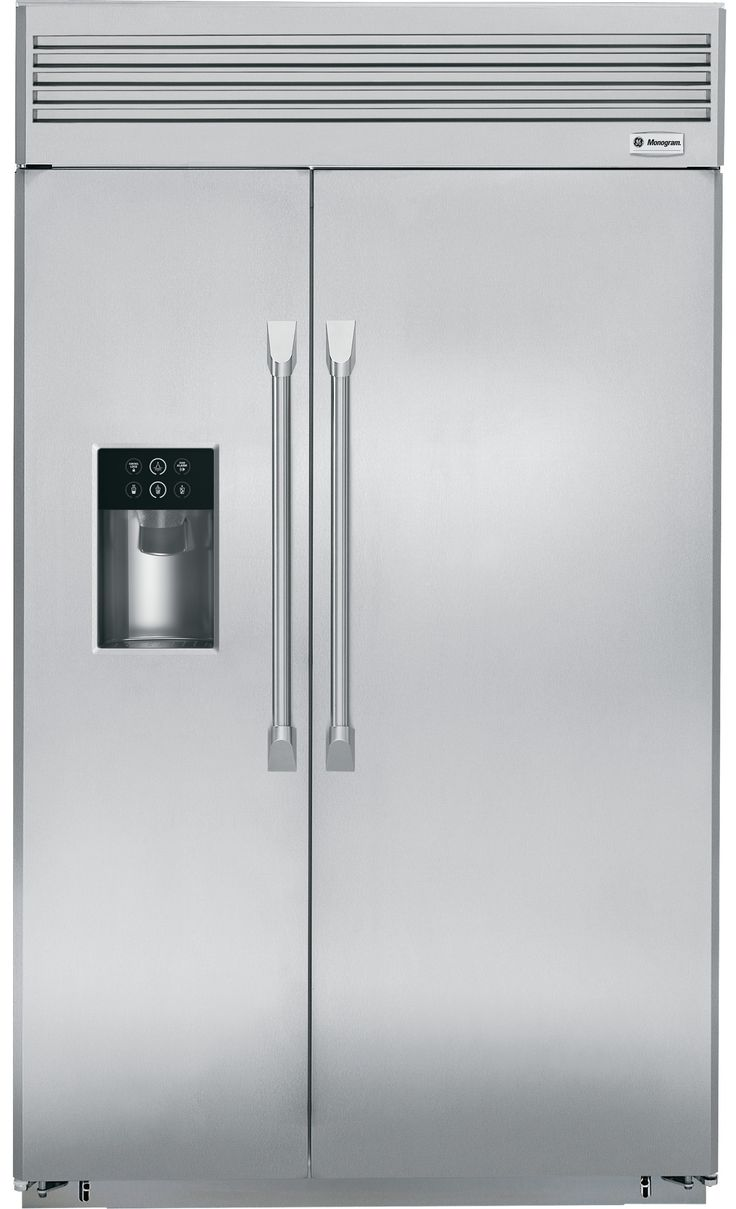 """GE Monogram ZISP480DHSS 48"""" Built In Side by Side Refrigerator   Appliance Connection"""