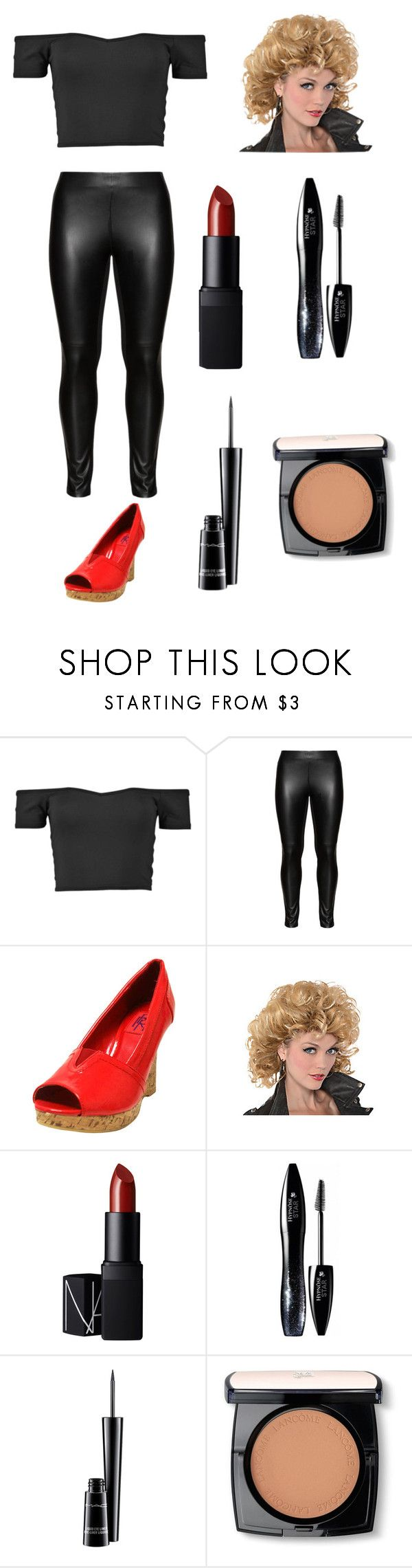 """Sandy from Grease costume"" by glittergirl04 ❤ liked on Polyvore featuring moda, Studio, NARS Cosmetics, Lancôme, MAC Cosmetics i Halloweencoustumesbyglittergirl04"