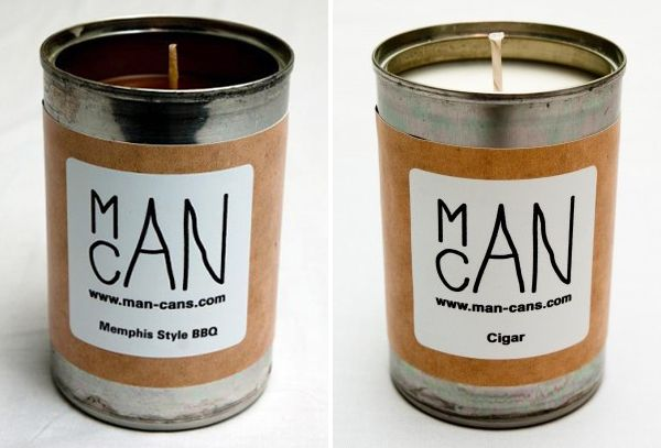 ManCansReal Soup, Proper Gents, Cigars Scented Candles, Soup Kitchens, Recycle Soup, Scented Candles For, Regali Gift, Scented Candle'S For