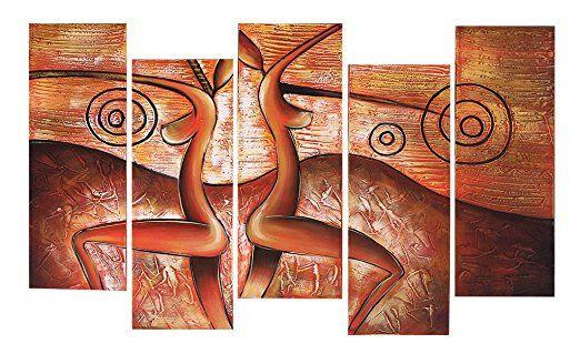 Ода-Рин Ручной Росписью Маслом Подарок Странной Женщины 5 Панели Дерево Внутри Рамочках Висит Украшения Стены