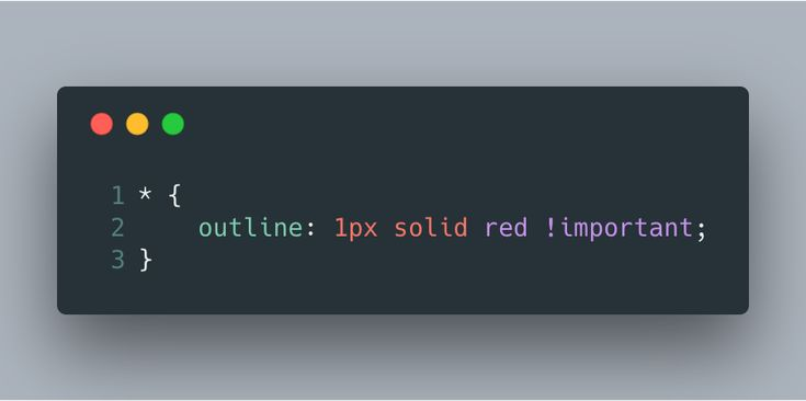 """🔥 Ever run into annoying CSS layout bugs that are really hard to troubleshoot? (WHY IS THERE A HORIZONTAL SCROLLBAR WHERE IS THIS COMING FROM?!?)  Throw this style into your dev tools to quickly see the boundaries of every element without affecting the layout:"""