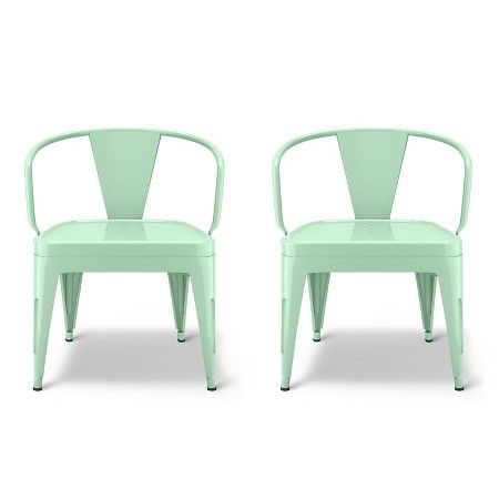 Industrial Kids A-Countivity Chair, set of 2 for $80 from Target (Pillowfort collection); also see kids' desk chair