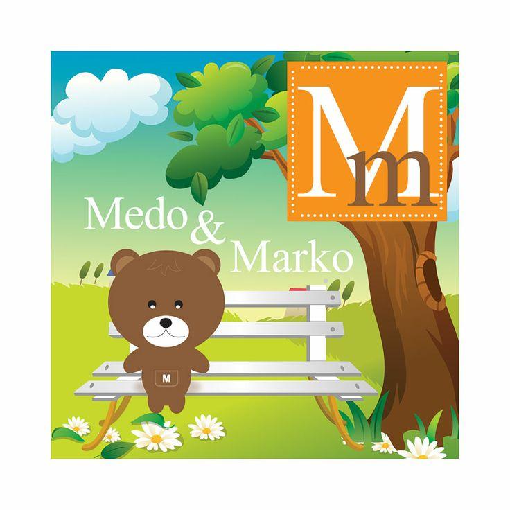 #DJ07, M stands for Medo, 50 x 50 cm